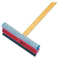 "General-Duty Squeegee, 8"" Sponge Head/Black Rubber Blade, 21"" Metal Handle"