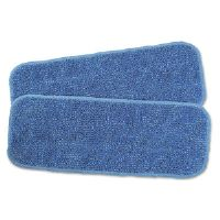 "Flash Microfiber Floor Care Kit Wet Pad Refill, Microfiber, 13.5"", Blue"