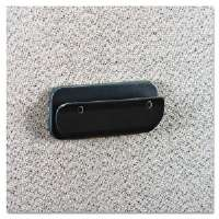 Recycled Plastic Partition Clip, 4-1/2w x 2h, Charcoal