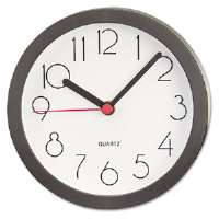 Cubicle Clock, 6in, Black