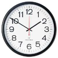 Indoor/Outdoor Clock, Atomic, 13-1/2in, Black