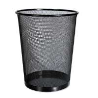 Mesh Wastebasket, 18 qt, Black