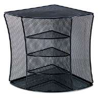 Mesh Desktop Corner Organizer, Six Compartments, Black