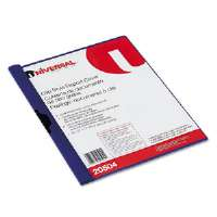 Plastic Report Cover w/Clip, Letter, Holds 30 Pages, Clear/Dark Blue