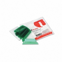 Hanging File Folder Plastic Index Tabs, 1/5 Tab, Two Inch, Green, 25/Pack
