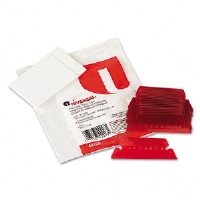 Hanging File Folder Plastic Index Tabs, 1/5 Tab, Two Inch, Red, 25/Pack