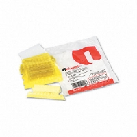 Hanging File Folder Plastic Index Tabs, 1/5 Tab, Two Inch, Yellow, 25/Pack