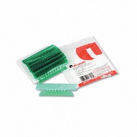 Hanging File Folder Plastic Index Tabs, 1/3 Tab, 3 1/2 Inch, Green, 25/Pack