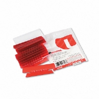 Hanging File Folder Plastic Index Tabs, 1/3 Tab, 3 1/2 Inch, Red, 25/Pack