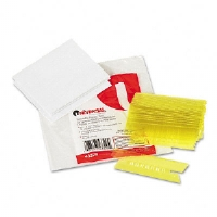 Hanging File Folder Plastic Index Tabs, 1/3 Tab, 3 1/2 Inch, Yellow, 25/Pack