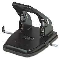 30-Sheet Two-Hole Punch, 9/32&quot; Holes, Black