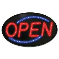 Newon LED Sign, Red/Blue, 13 x 21