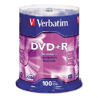DVD+R Discs, 4.7GB, 16x, Spindle, 100/Pack