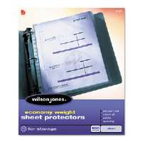 Economy Weight Sheet Protector, Non-Glare Finish, Clear, 50/Box