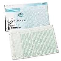 Side-Punched Columnar Pad, 12 8-Unit Columns, Perforated Heading, 11 x 16-3/8