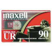 Maxell Dictation & Audio Cassette, Normal Bias, 90 Minutes (45 x 2) (108510)