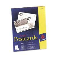Avery Laser Postcards, 4 x 6, Two per Sheet, 100 Cards/Box