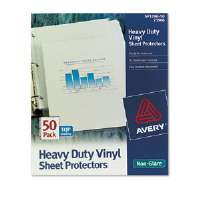 Top-Load Vinyl Sheet Protectors, Heavy Gauge, Letter, Non-Glare, 50/Box