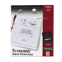 Top-Load Poly Sheet Protectors, Economy Gauge, Letter, Semi-Clear, 50/Box