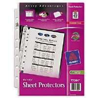 Top Load Sheet Protector, Heavyweight, 8.5 x 5.5, Clear 25/Pk