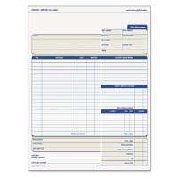 Snap-Off Job Invoice Form, 8 1/2 x 11 5/8, Three-Part Carbonless, 50 Forms