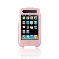 Belkin F8Z338-PNK iPhone 3G Formed Leather Sleeve - Pink