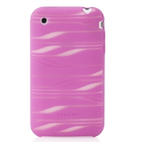 Belkin F8Z342-PCG iPhone 3G Silicone Sleeve With Plug - Pink/White