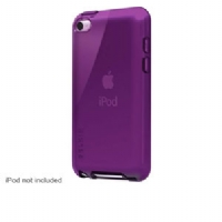 Belkin F8Z657ttC08 Grip Vue Tint Case - For iPod Touch 4, Form Fitting, Camera Lens Cutout, Royal Purple