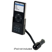 Belkin TuneBase FM for iPod - Holder / FM transmitter / charger - black - for Apple iPod (4G, 5G); iPod mini; iPod nano (F8Z049-BLK)