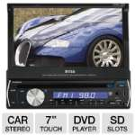 "Boss BV9982I In-Dash Head Unit Car Stereo DVD Player - 7"" Touchscreen, DVD/MP3/CD AM/FM Receiver, USB Mini, SD Slots, Aux Input, iPod Control, Single-DIN Connector"
