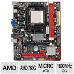 BIOSTAR A780L3B 760G Motherboard - Micro ATX, Socket AM3, AMD 760G Chipset, 1600MHz DDR3 (O.C.), SATA II (3Gb/s), RAID, Radeon HD 3000 Graphics, 6-CH Audio, Fast Ethernet LAN, USB 2.0