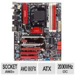 BIOSTAR TA990FXE AMD 9-Series Motherboard - ATX, Socket AM3+, AMD 990FX Chipset, 2000MHz DDR3 (O.C.), SATA 6.0 Gb/s, RAID, 8-CH Audio, Gigabit LAN, SuperSpeed USB 3.0, CrossFireX Ready