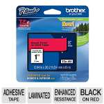 "Brother TZe-451 P-Touch 1"" (0.94"") Black on Red Tape (26.2 FT)"
