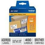 Brother DK1201 Standard Address Labels, White, 3.5&quot; x 1.13&quot;(400 Labels)