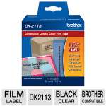 Brother QL500/550 Continuous Film Label (Black/Clear)