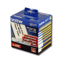 "Brother DK2205 Black on White Continuous Paper Lable - 2-3/7"" x 100'"