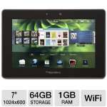 BlackBerry PlayBook 64GB Tablet - 7-inch Multi-Touch Display, 1GHz Processor, 1GB Memory, 64GB Storage, 802.11a/b/g/n Wi-Fi, Dual Webcams (PRD-38548-036)