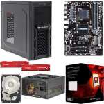 AMD FX-8350 Eight-Core 4GHz CPU/Gigabyte GA-970A-DS3P ATX MB/8GB DDR3 1866 Kingston HyperX Fury Red Memory/1TB WD Blue 7200rpm SATA HDD/Cougar Spike Case w/550W PSU