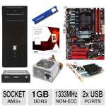 Biostar AMD 970 Motherboard and AMD FX-4100 3.60 GHz Quad Core AM3+ Unlocked CPU and ADATA Premier Srs 4GB DDR3 Desktop Memory Module and Sapphire Radeon HD 5450 1GB DDR3 Video Card and Samsung Bundle