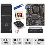 MSI 760GM-P23 (FX) AMD Socket AM3+ Motherboard and AMD FX-6100 3.30 GHz Six Core AM3+ Unlocked CPU and Thermaltake CL-P0503 70mm CPU Cooler and ADATA Premier Srs 4GB DDR3 Desktop Memory Module  Bundle