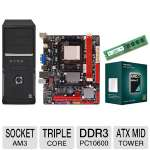 Biostar AMD A780L3C Motherboard and AMD Athlon II X3 450 Triple Core Processor and Centon 4GB Desktop Memory Module and Thermaltake V2 ATX Mid Tower Case with 450W PSU Bundle
