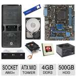 ASUS M5A78L-M LX PLUS AMD 760G AM3+ Motherboard and AMD FX-6100 3.30 GHz Six Core AM3+ Unlocked CPU and Thermaltake CL-P0503 70mm CPU Cooler and ADATA Premier Srs 4GB DDR3 Desktop Memory Module Bundle
