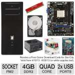 "MSI FM2-A55M-E33 Motherboard and AMD Quad-Core A8-5500 3.2GHz Radeon HD 7560D APU and Kingston HyperX Red 4GB Memory Module and Seagate Barracuda 500GB SATA6G 3.5"" Internal HDD and Thermaltake  Bundle"