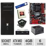 Biostar AMD 970 Motherboard and AMD FX-6100 3.30 GHz Six Core AM3+ Unlocked CPU and Cooler Master AM2 / AM3 CPU Cooler and ADATA Premier Srs 4GB DDR3 Desktop Memory Module and LG 24X DVD Burner Bundle