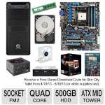 Asus F2A85-V Pro Motherboard and AMD Quad-Core A8-5600K 3.6GHz Radeon HD 7560D APU and Centon 4GB Desktop Memory Module and Seagate Barracuda 500GB SATA6G 3.5&quot; Internal HDD and LG 24X DVD Burne Bundle