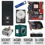 Biostar AMD A780L3C Motherboard and AMD Athlon II X3 450 Triple Core Processor and ADATA Premier Srs 4GB DDR3 Desktop Memory Module and Seagate Barracuda 500GB SATA6G 3.5&quot; Internal HDD and XFX  Bundle