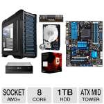 Asus M5A99X EVO R2.0 AM3+ Motherboard and AMD FX-8350 Eight-Core 4GHz AM3+ Processor and Patriot Viper Xtreme 8GB Desktop Memory Module and WD Black 1TB Sata 3.5&quot; Desktop Hard Drive and LG 14X  Bundle