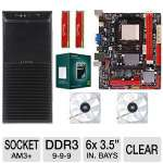 Biostar 760G Motherboard, AMD Athlon II X3 450 Processor, 2x Kingston 4GB 9-9-9 DDR3 HyperX Red Memory Module, Ultra XBlaster Mid-Tower V2 Case w/450W PSU, & 2x Kingwin 120mm Yellow LED Case Fan
