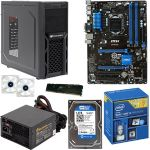 Intel Core i5-4690K 3.5GHz CPU/MSI Z97 PC MATE ATX MB/8GB DDR3 1600 PNY XLR8 Memory/1TB WD Blue 7200rpm SATA HDD/2X LED Case Fan/Cougar Solution Case w/650W PSU Barebones