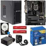 Intel� Core� i7-4790K CPU/Asus Sabertooth Z97 Mark1 ATX MB/16GB Kingston HyperX Fury Red Memory/1TB WD Blue 7200rpm SATA HDD/Corsair H55 Liq. CPU Cooler/Cougar Solution Case w/650W PSU Barebones